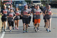 Officers Running in the Special Olympics Torch Run