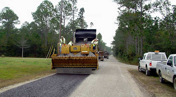 Image of road paving