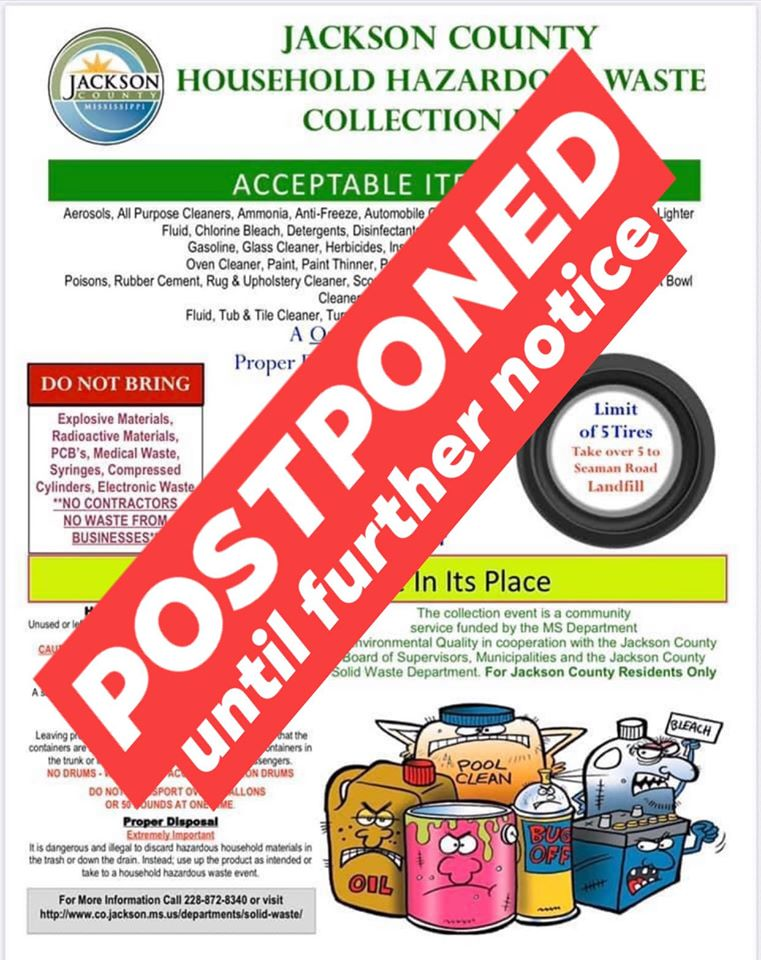 HHW Collection Day Postponed